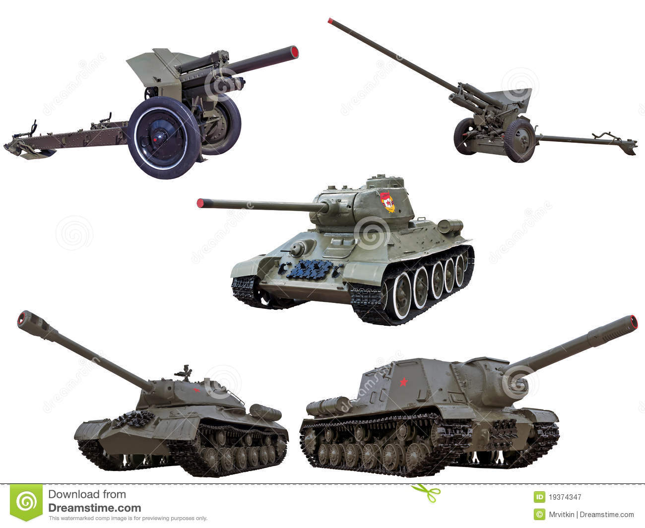 ... Free Stock Photography: World war red army soviet guns cannons tanks
