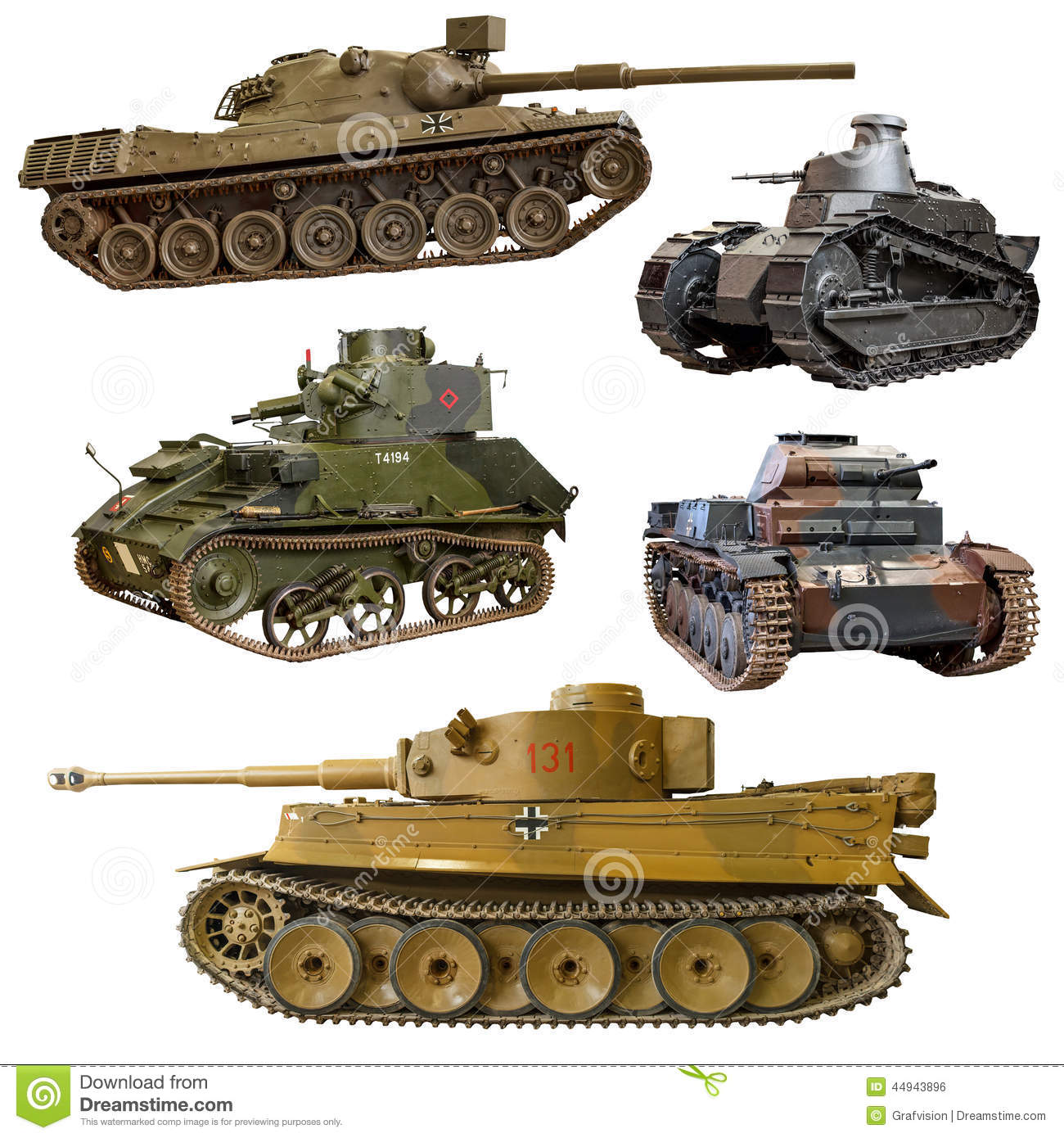 World War 2 tank stock photo  Image of isolated, military - 44943896