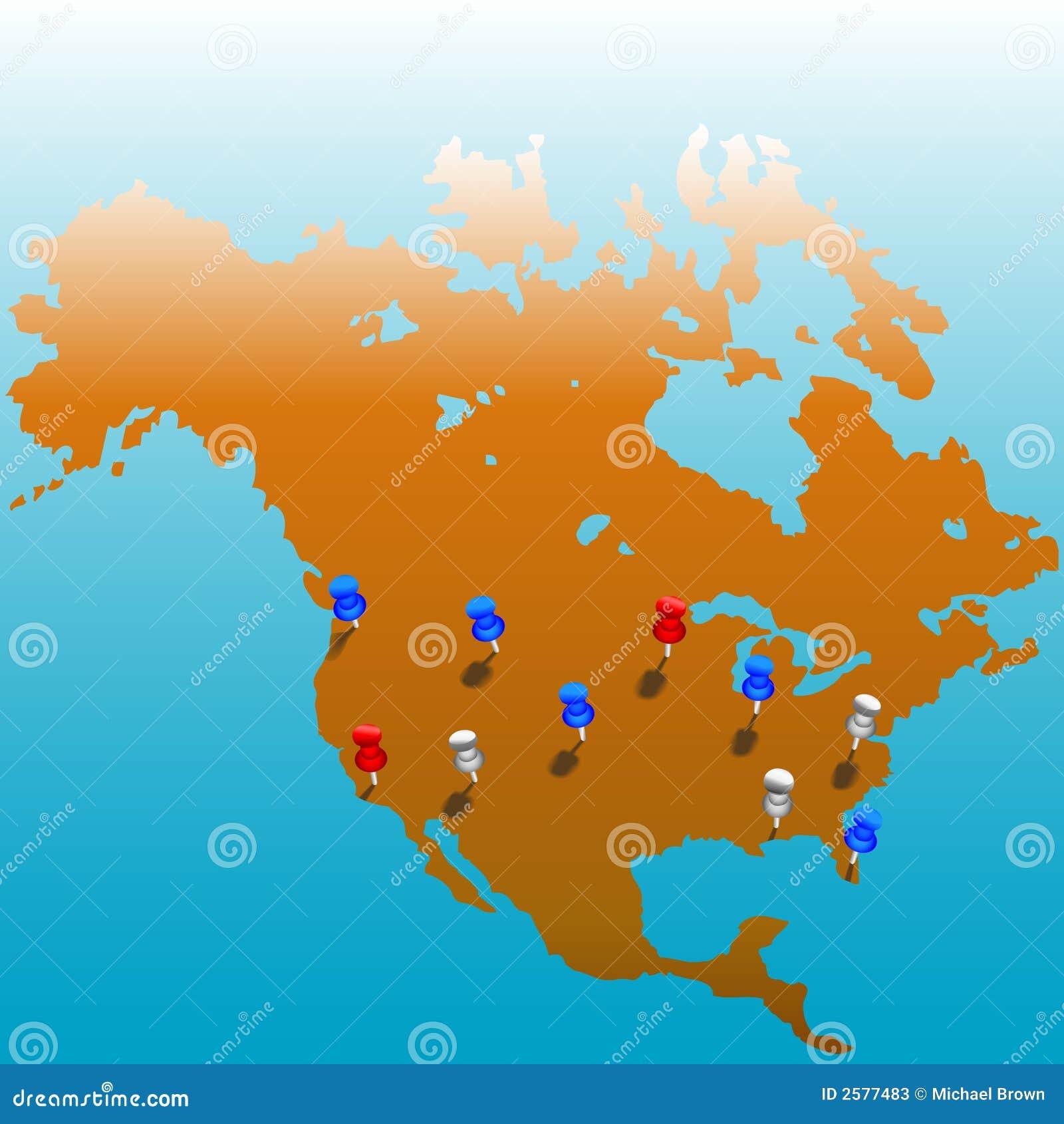 World Wide Tacks US Map Stock Photos Image 2577483
