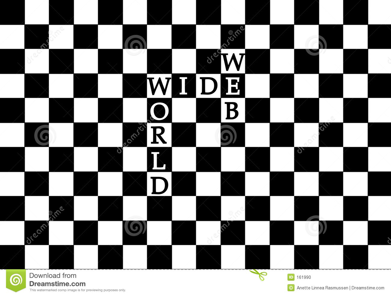 World Wide Web in a chess pattern