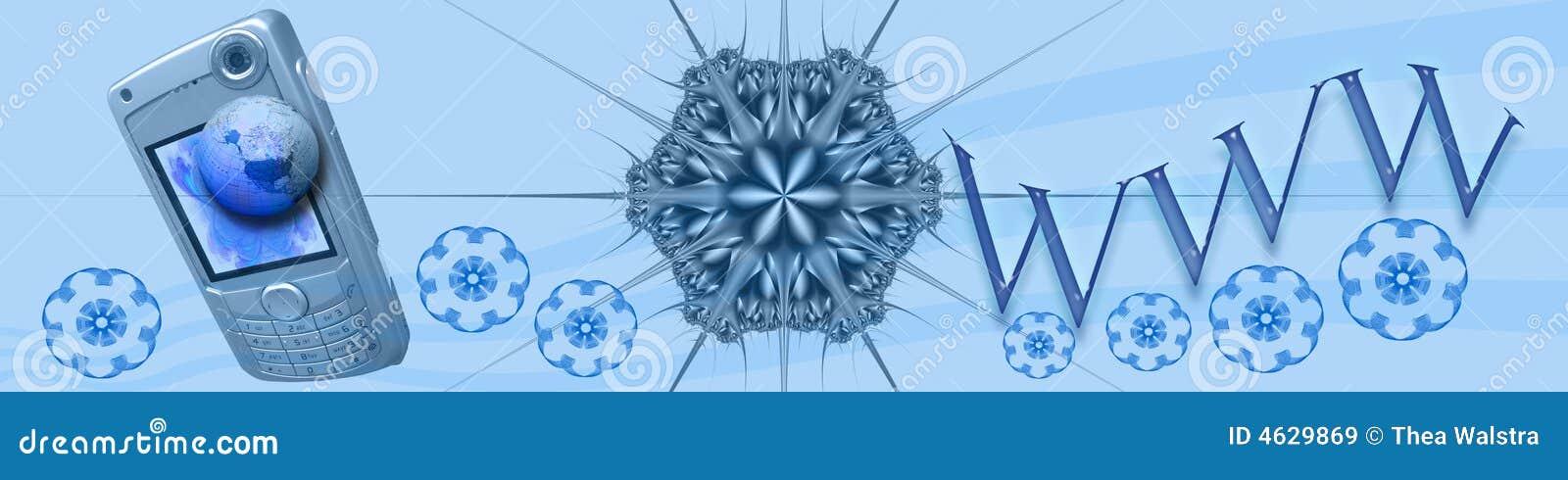 World Wide Web da bandeira/encabeçamento