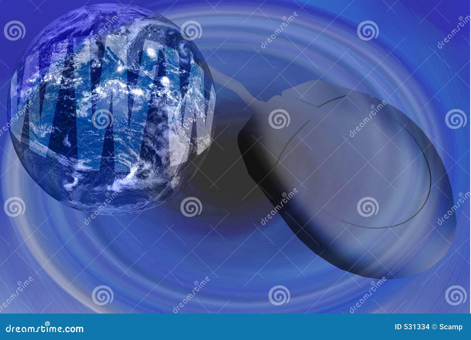 World Wide Web - Internet com globo e rato