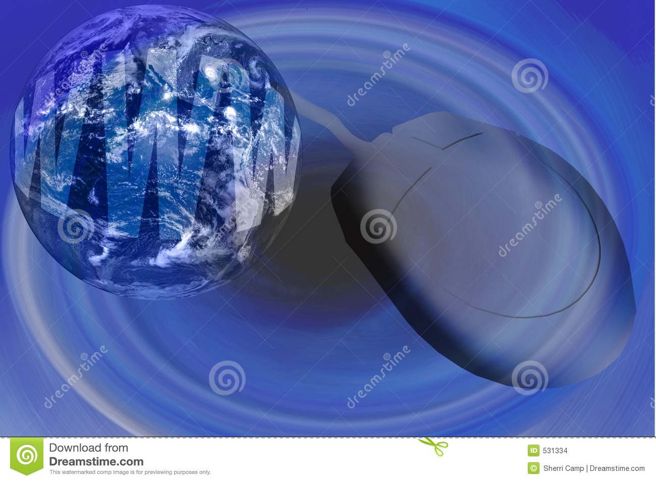 World Wide Web Internet With Globe And Mouse Stock
