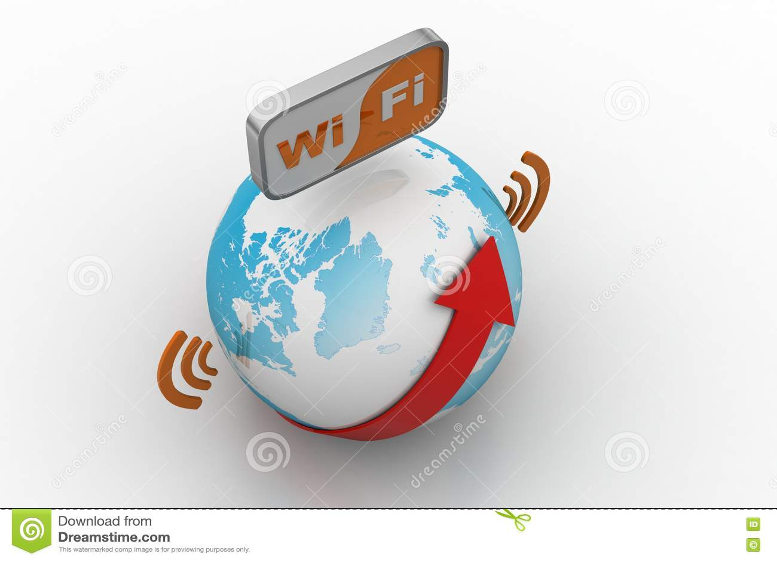 World wifi Earth broadband symbol