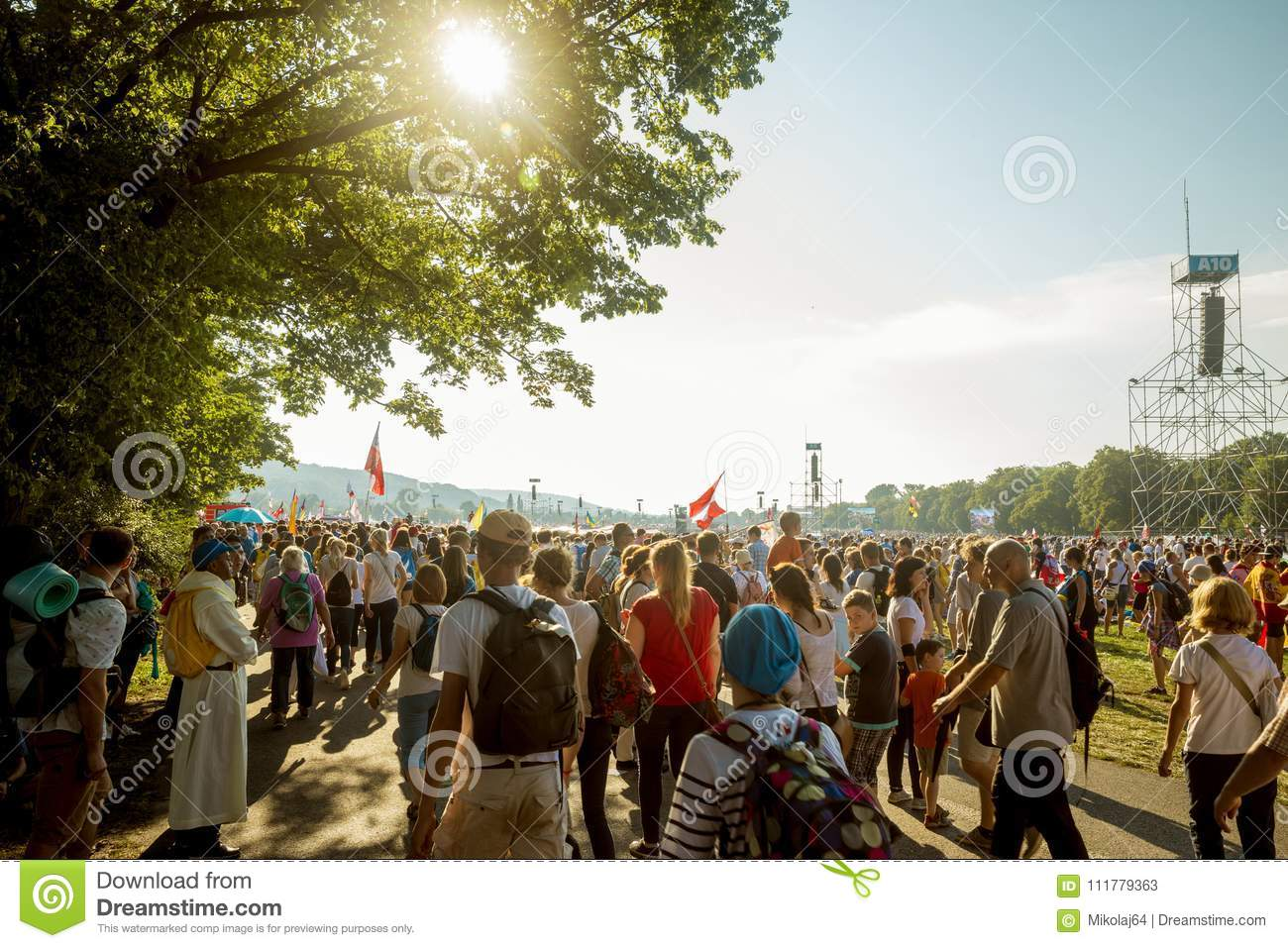 World youth day in Krakow, Poland