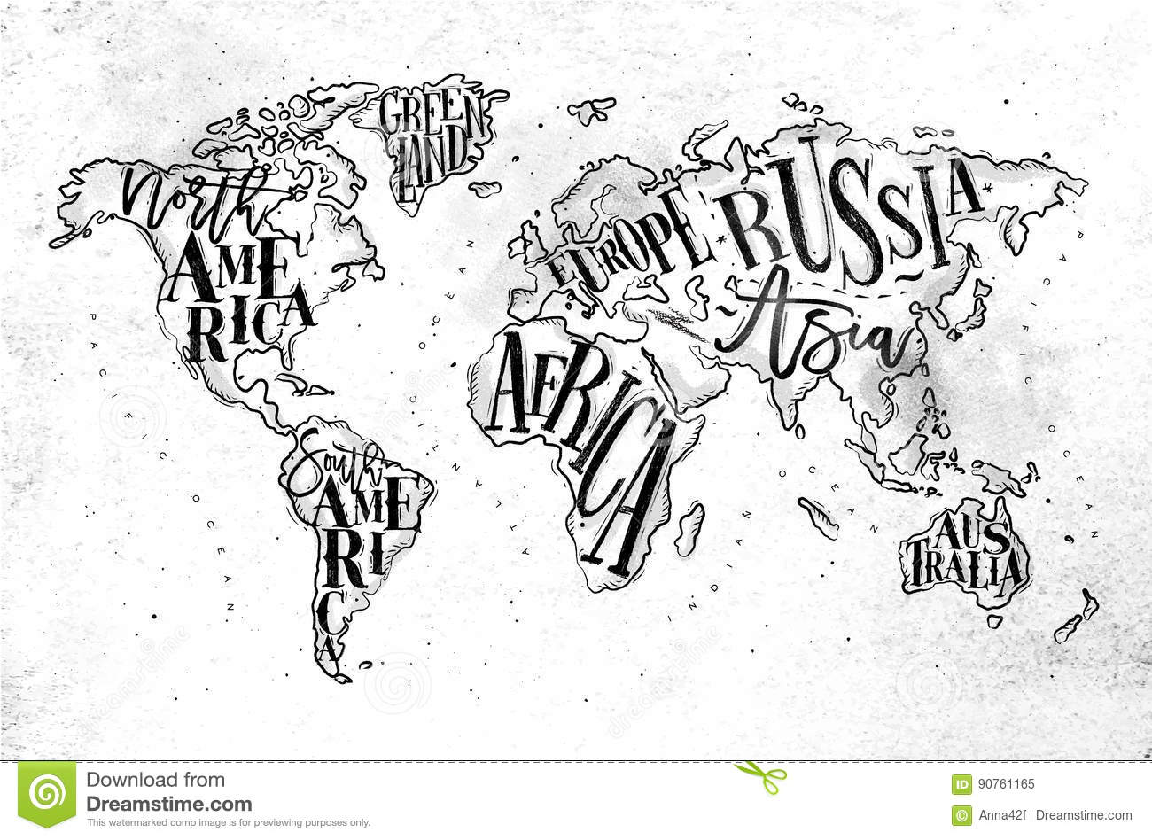 Worldmap vintage paper stock vector illustration of pacific 90761165 download comp gumiabroncs Images