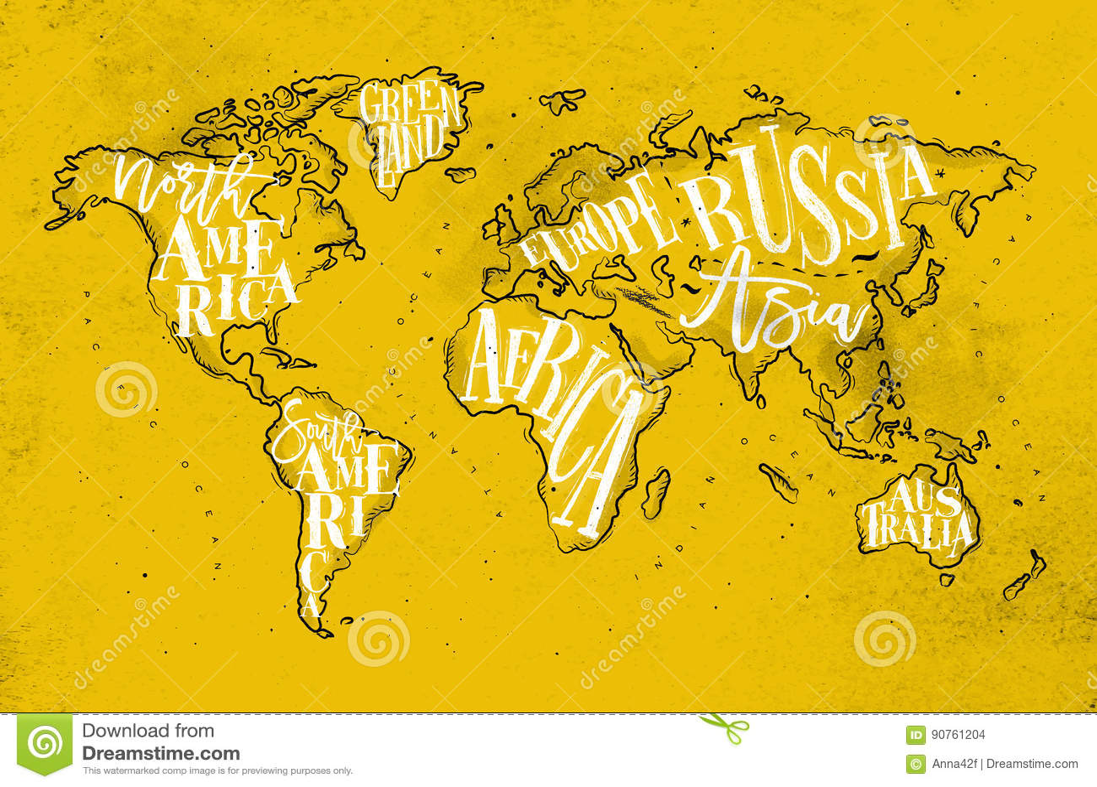 Worldmap vintage yellow stock vector illustration of illustration worldmap vintage yellow gumiabroncs Images