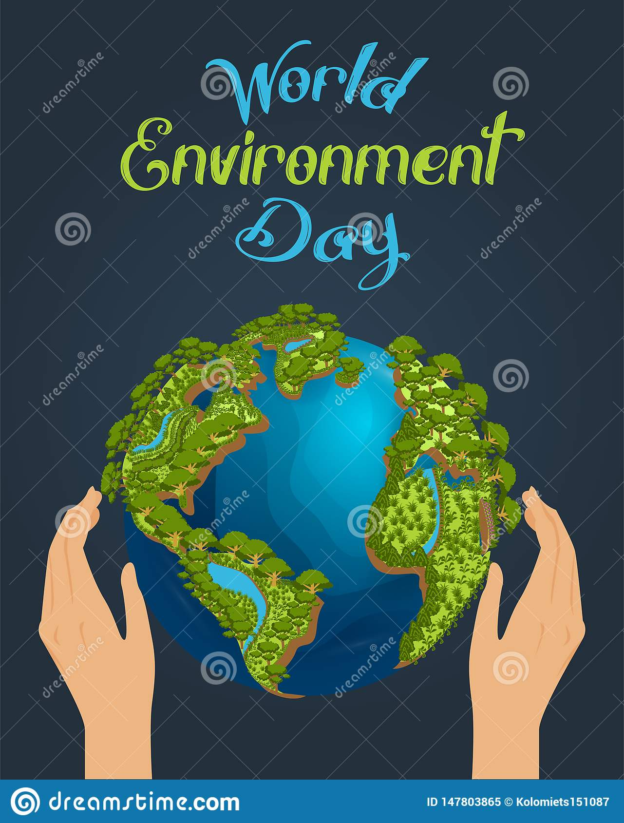 Worlds Environment Day concept