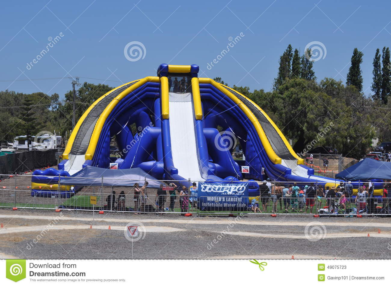 Worlds Largest Inflatable Water Slide Editorial Stock Photo