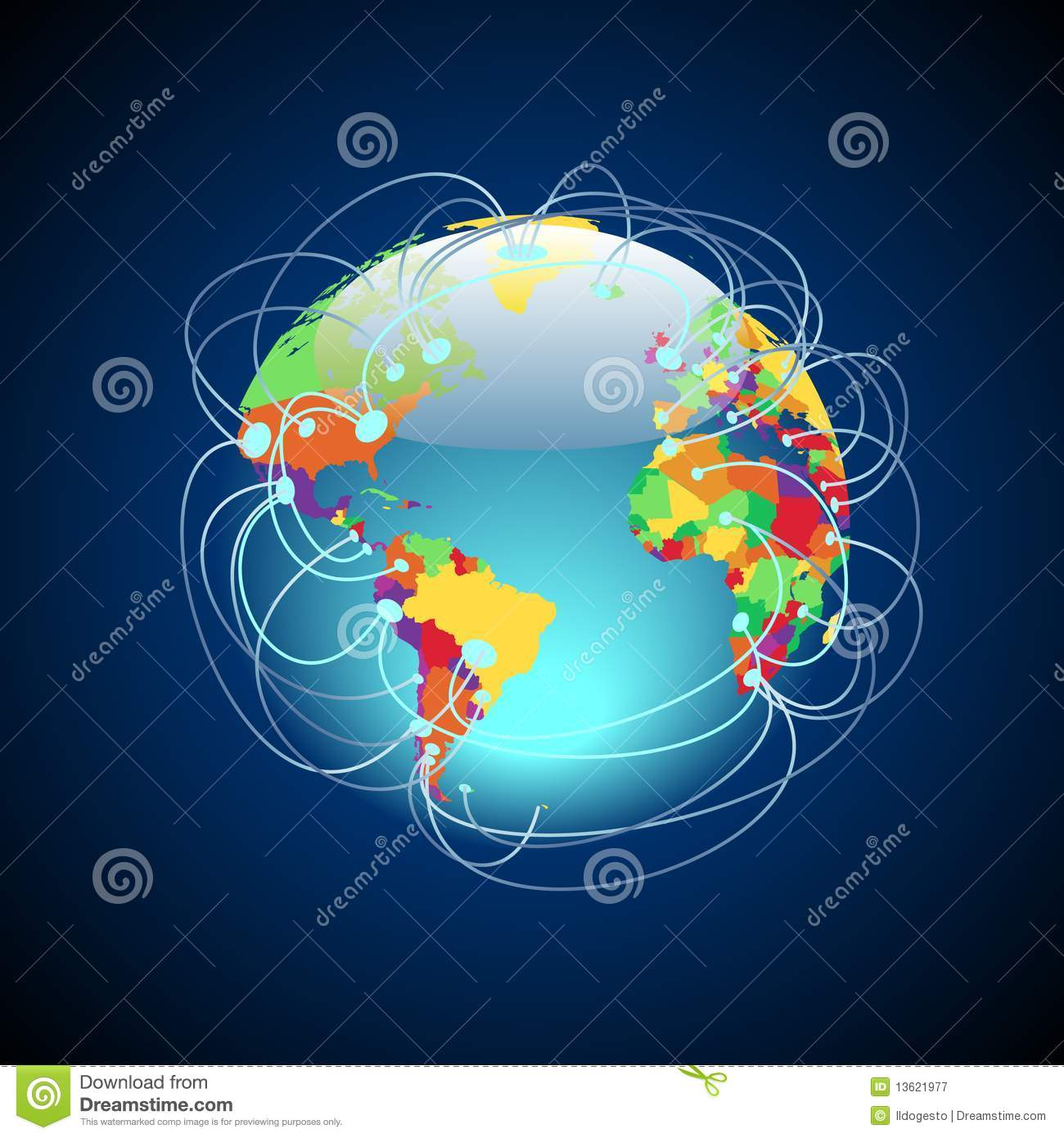 Worldwide Connections Colorful Royalty Free Stock ... Colorful Connections