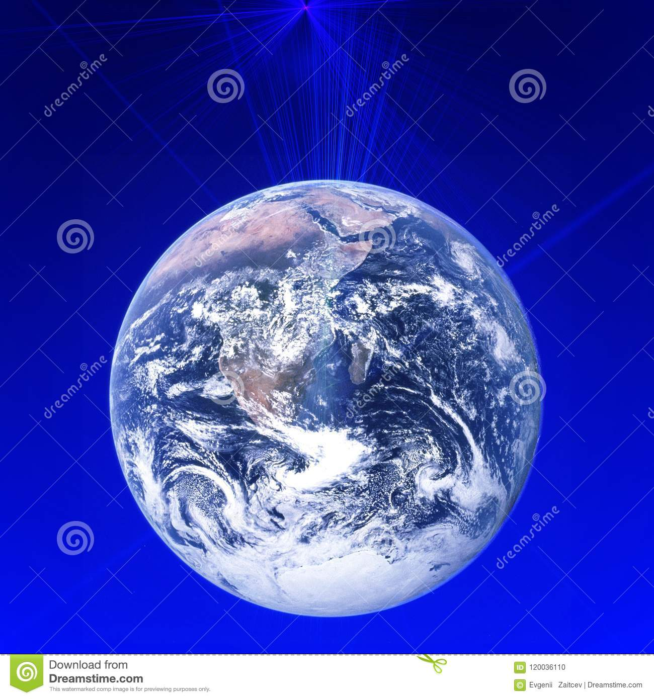 Worldwide global communication network around planet Earth. High speed data and internet connection.Modern technology for busine