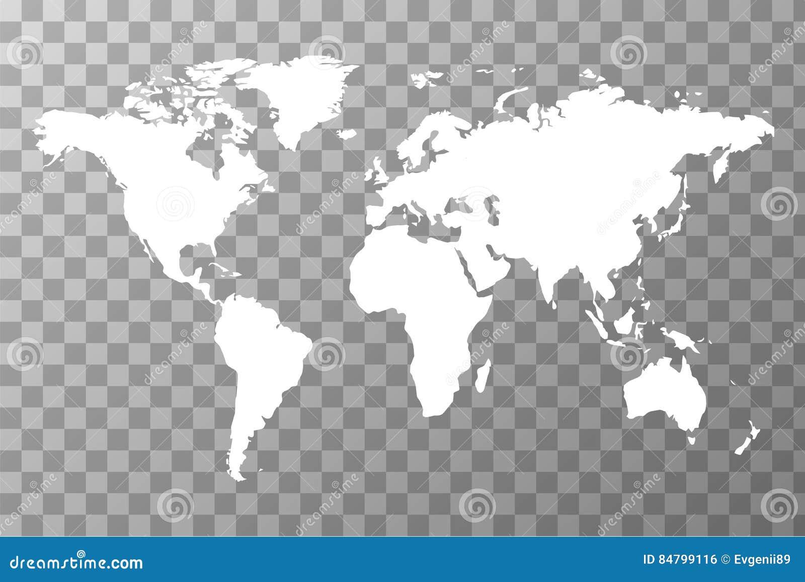 Worldwide Map On Transparent Background Stock Illustration