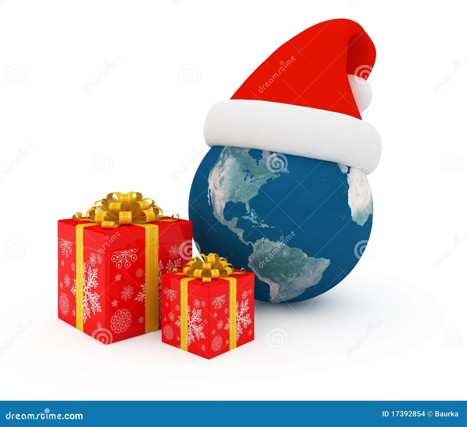 Worldwide Merry Christmas Celebration Stock Illustration Illustration Of Concept Golden 17392854