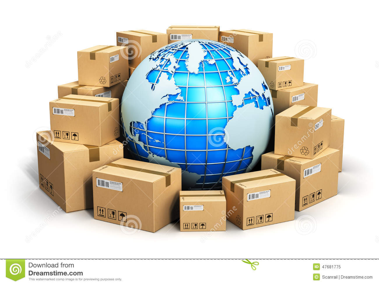 worldwide shipping concept stock illustration image Earth Globe Clip Art images of planet earth clip art