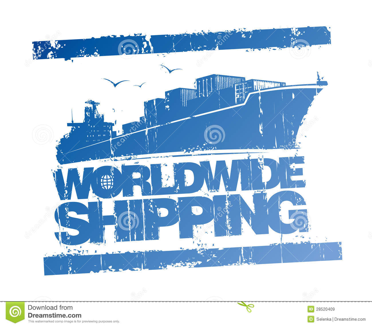 Worldwide Shipping Stamp Stock Vector Illustration Of