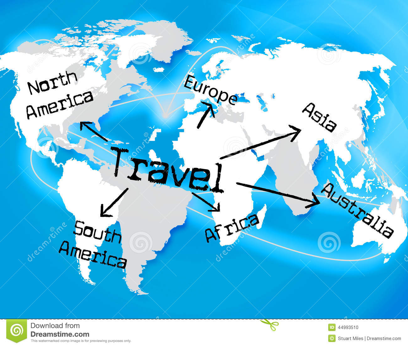 Worldwide Travel Represents Traveller Globally And Journey ...