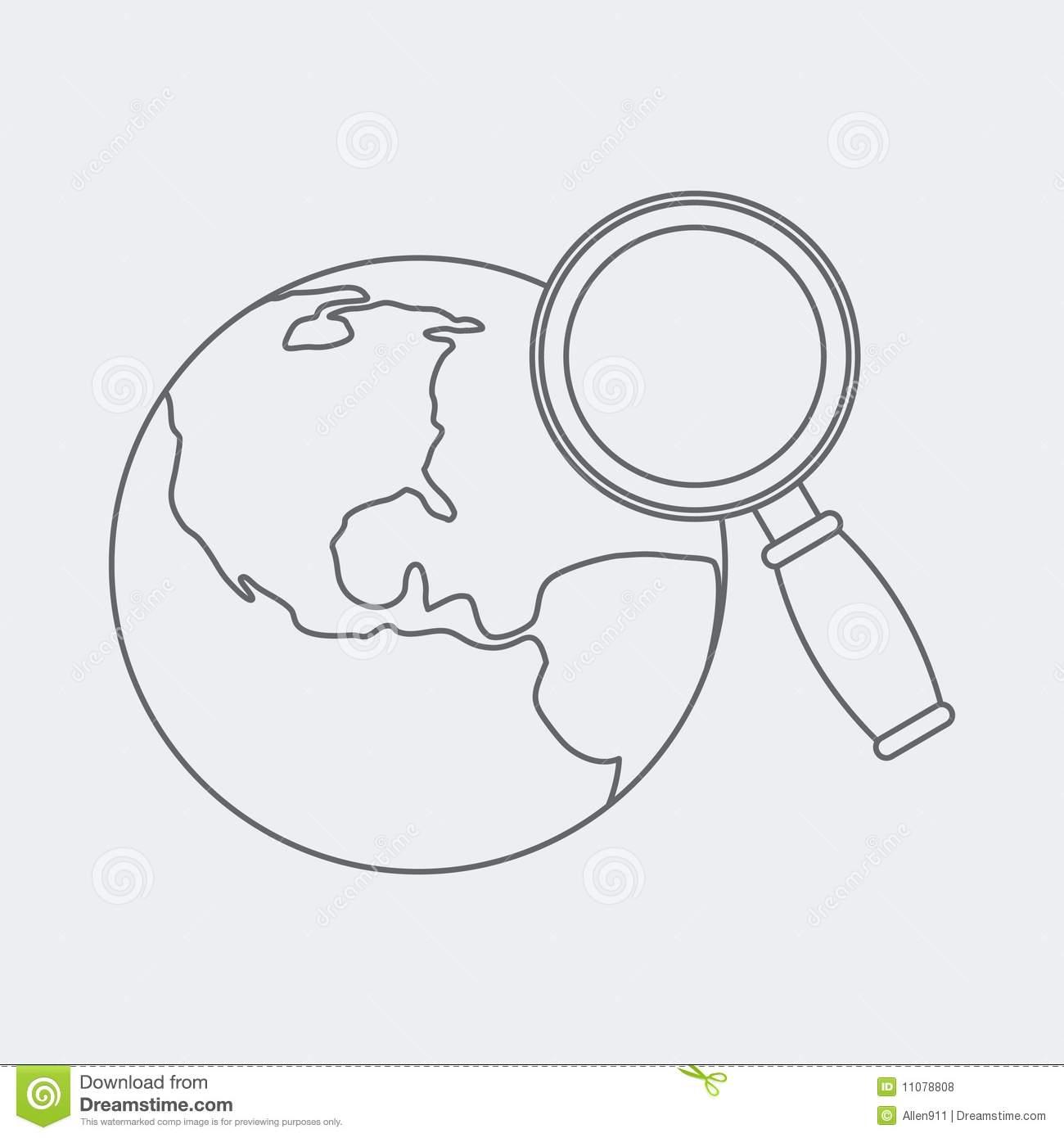 Worldwide web search sketch stock vector image 11078808 for Easy drawing websites