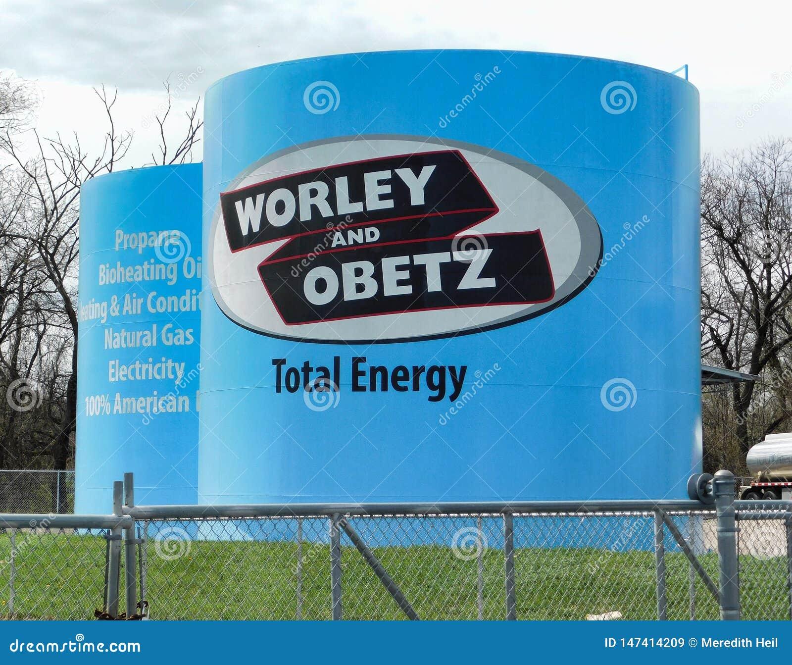 Worley och Obetz blåa lagringsbehållare
