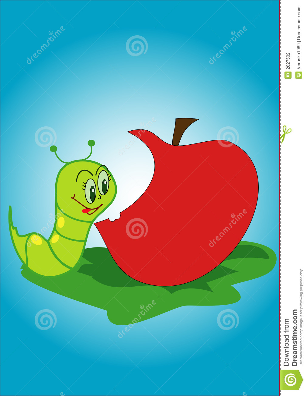 Worm And Apple Stock Photography - Image: 2027502
