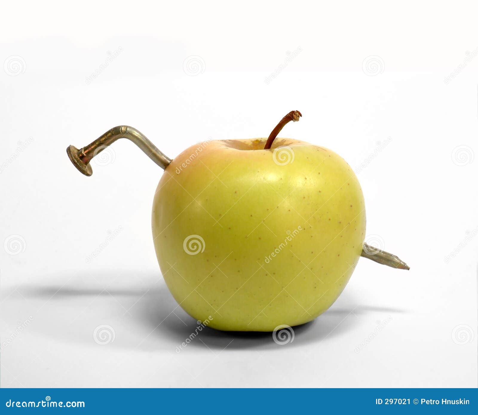 Worm-mutant in een appel â¦
