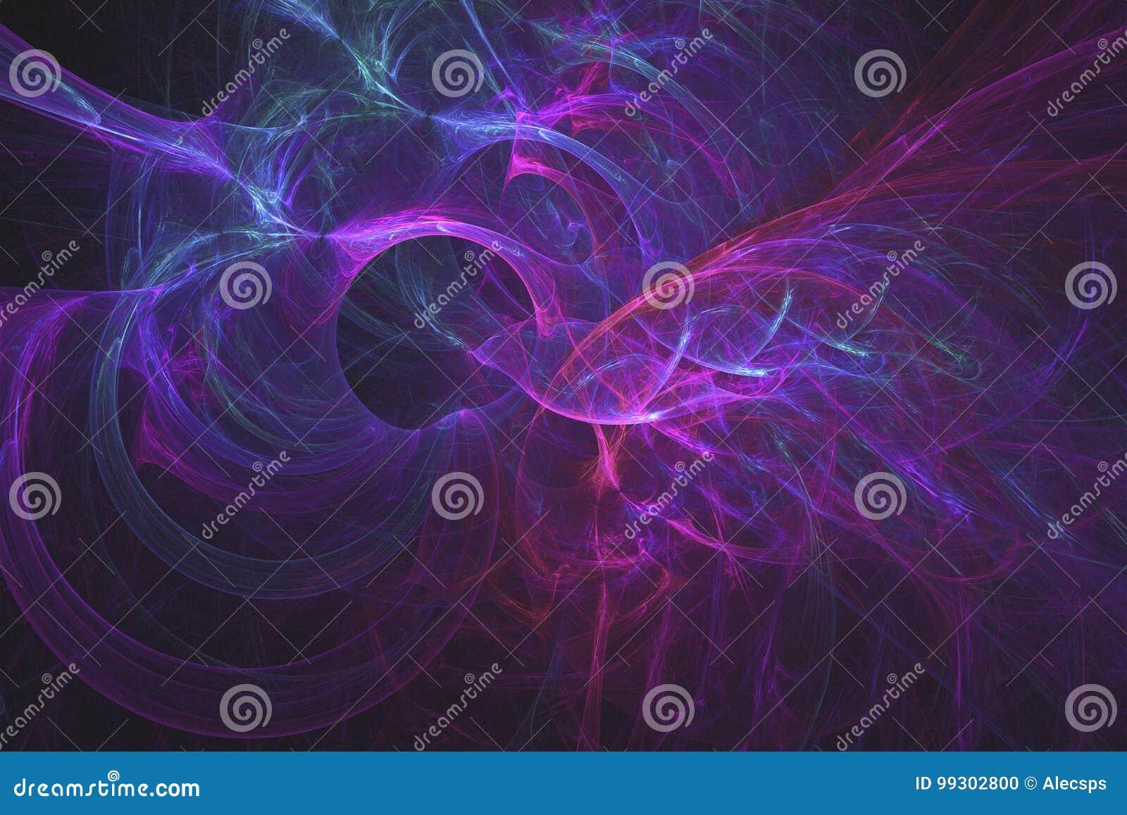 Wormhole roxo no universo