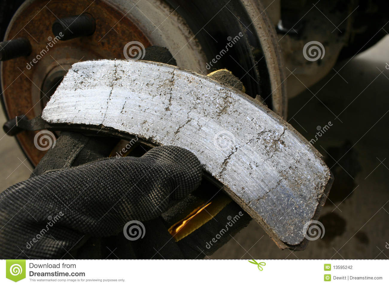 Worn Brake Pad Stock Photography - Image: 13595242