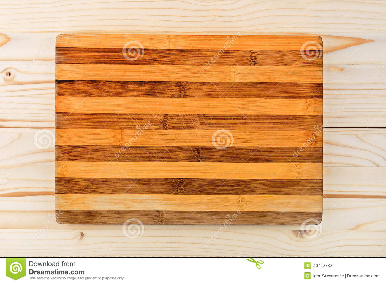worn butcher block cutting and chopping board as background stock photo