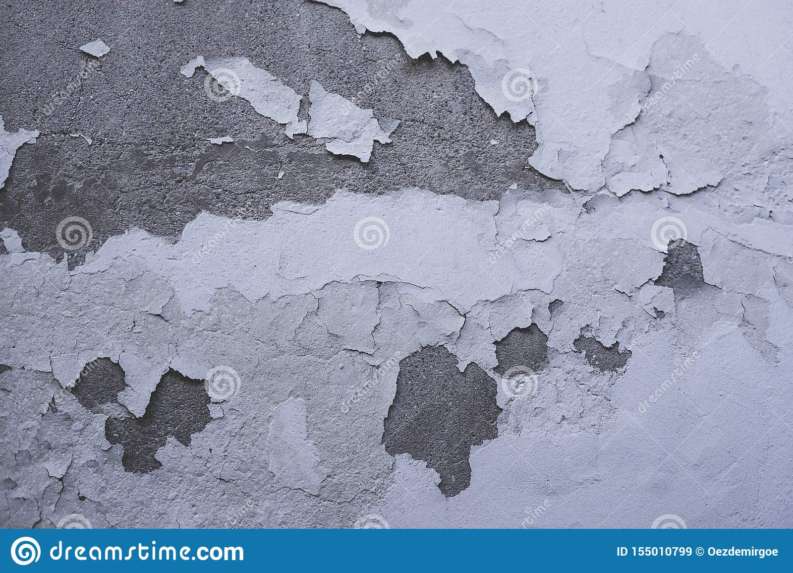 Worn house wall peeling off wall paint