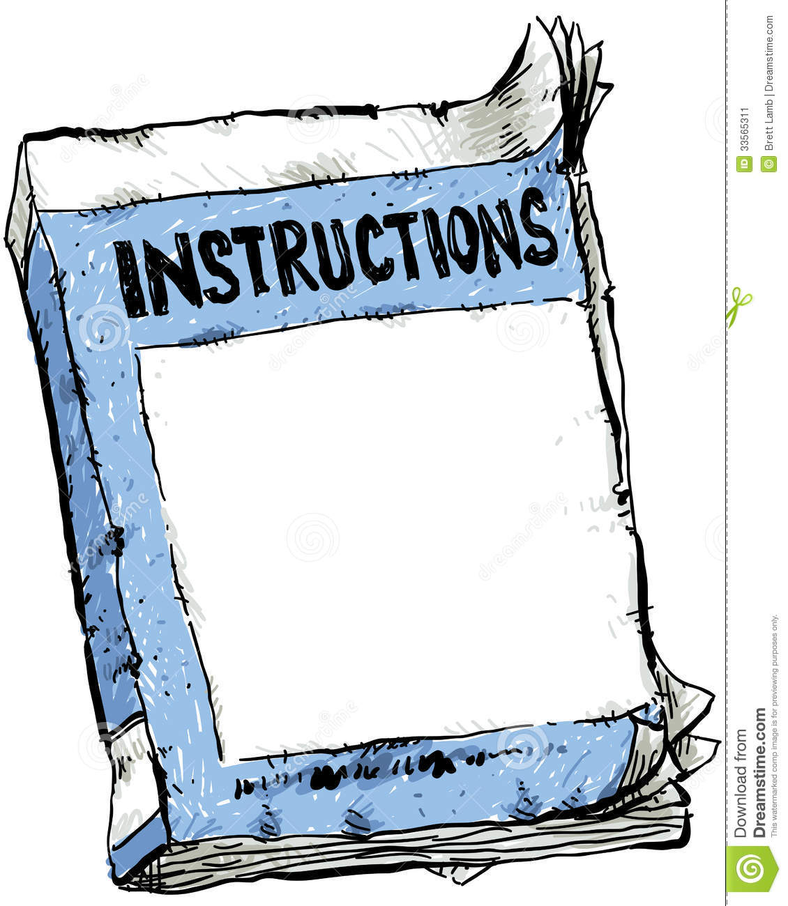 Worn Instruction Booklet Stock Image - Image: 33565311