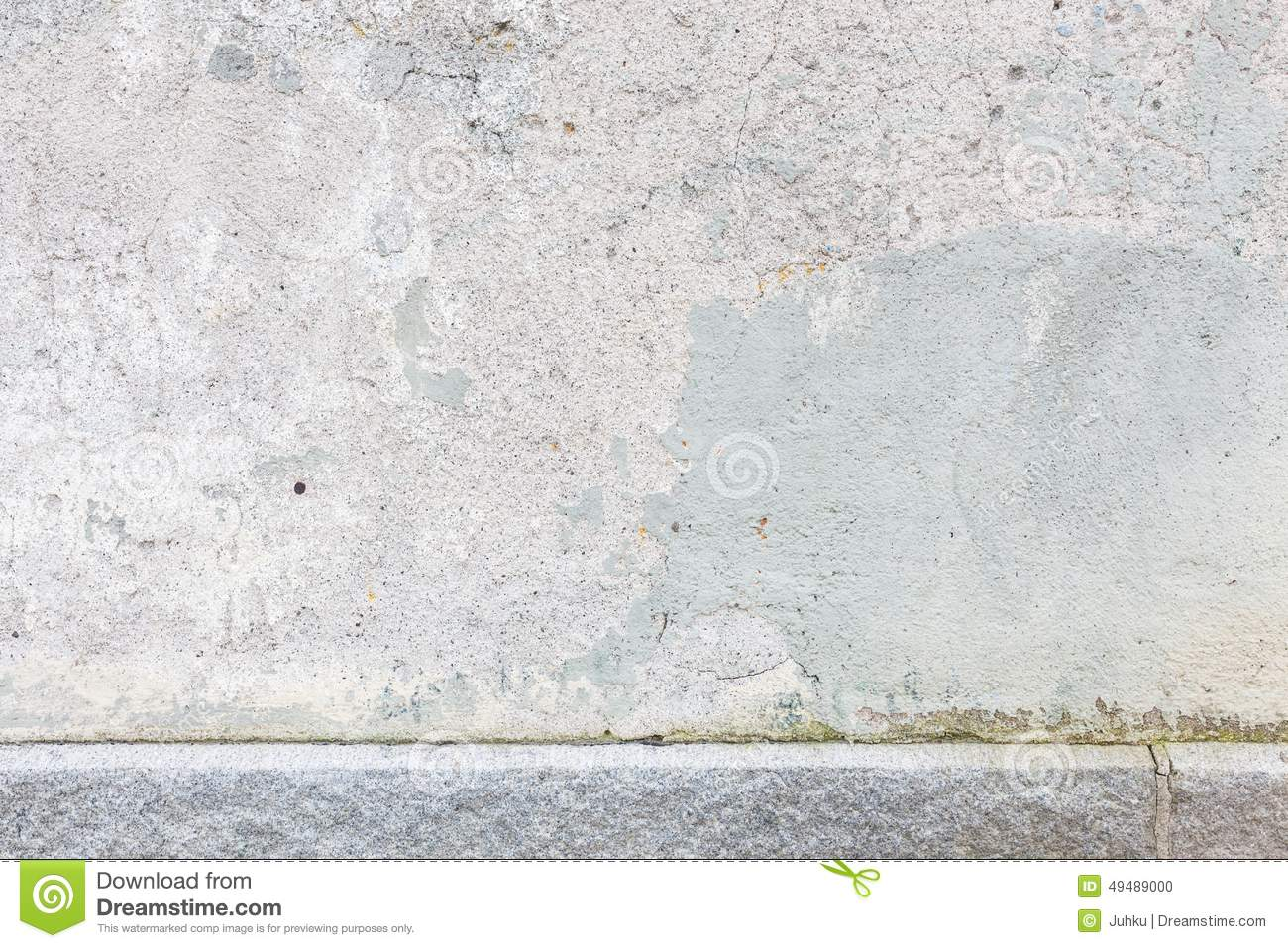 Worn old painted concrete wall stock photo image 49489000 for Old concrete wall texture