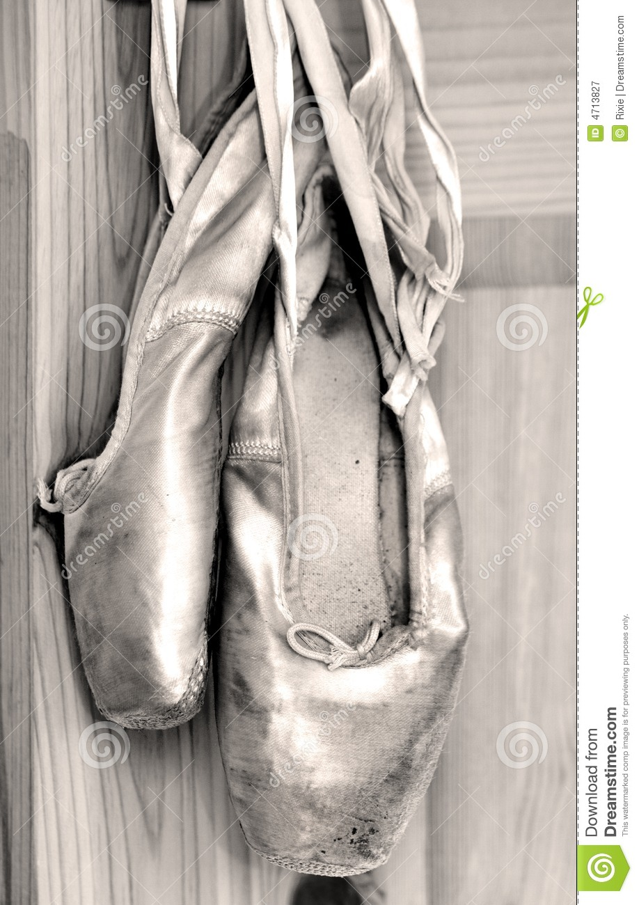 worn out ballet shoes royalty free stock photography