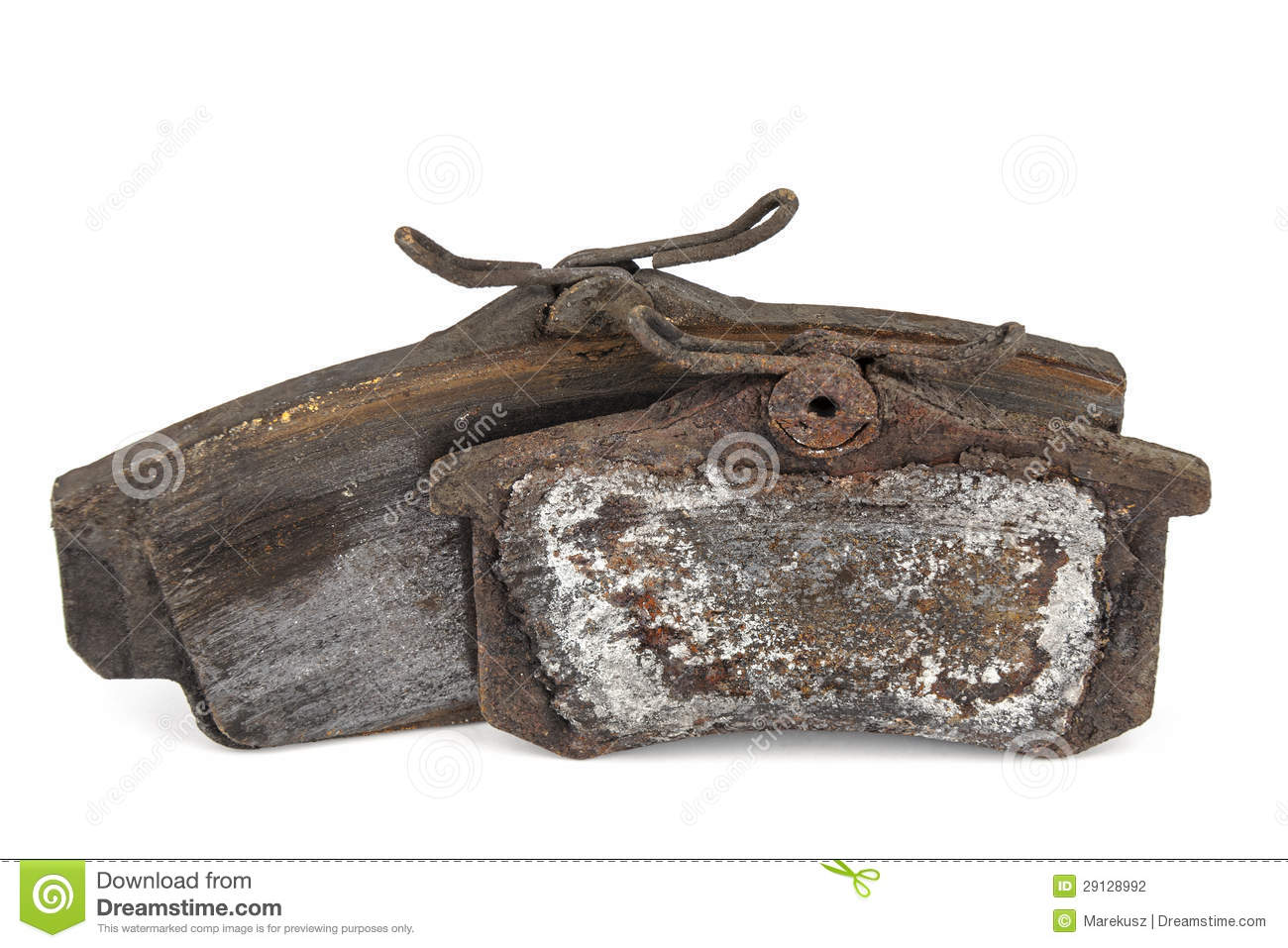 Worn Out Brake Pads Stock Photography - Image: 29128992