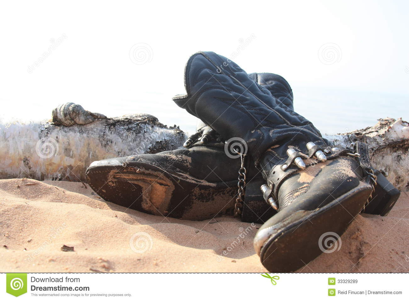 Worn Out Cowboy Boots Stock Image Image Of Leather Hole