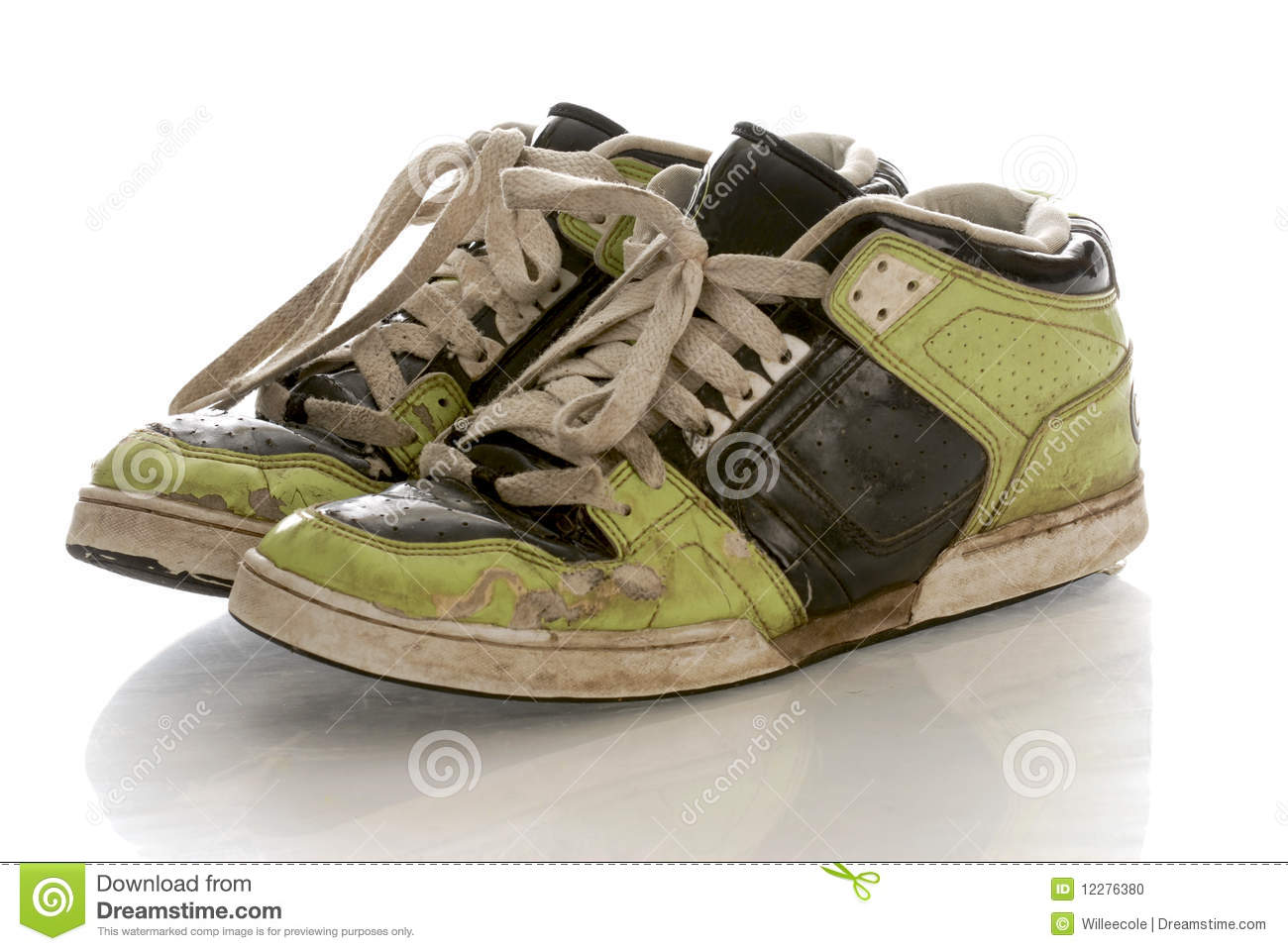 0788a3b3a2aa Worn out running shoes stock photo. Image of health