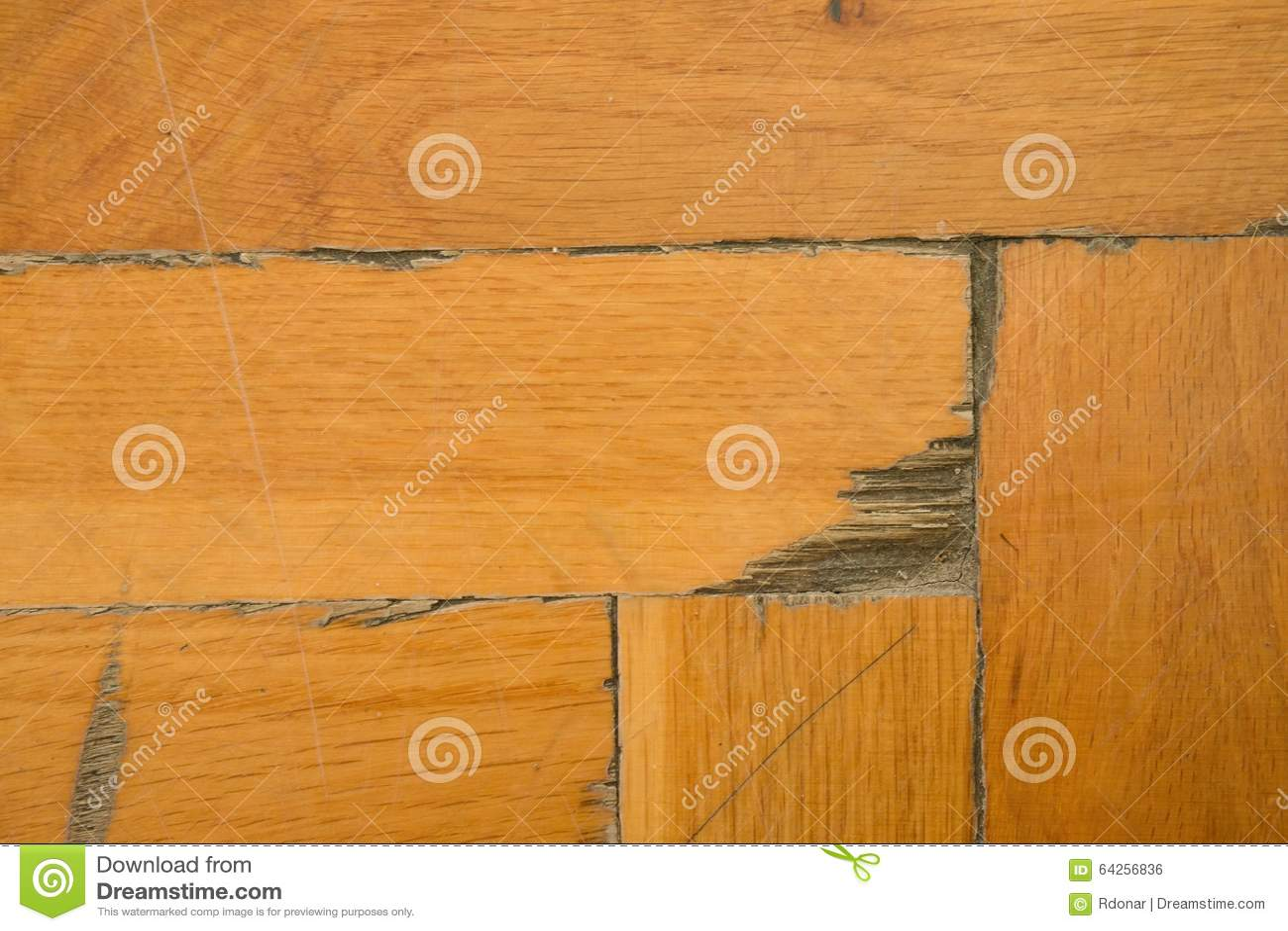 Worn out wooden floor of sports hall light wood flooring Worn wood floors