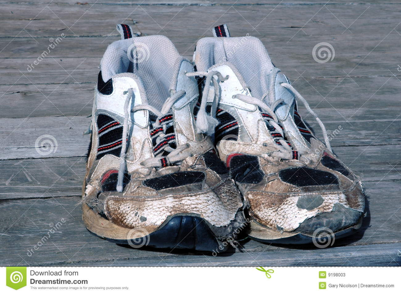 Worn Running Shoes Stock Photos Image 9198003