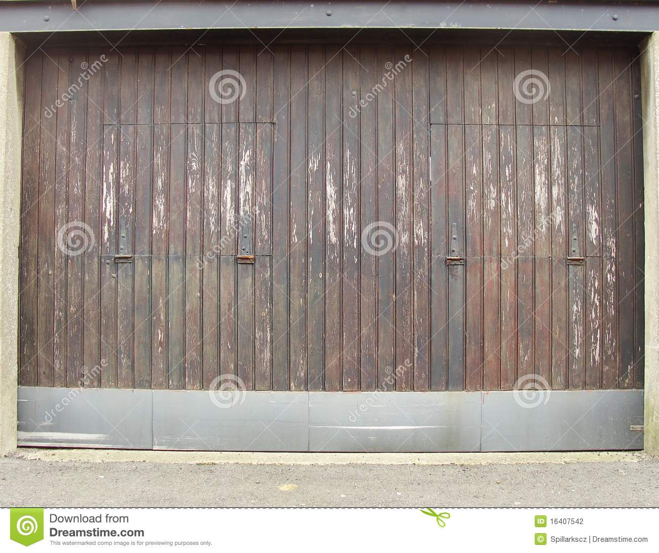 Worn Wood And Metal Barn Garage Door Stock Photo Image