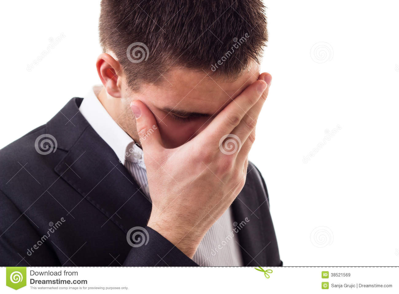 Worried Businessman Royalty Free Stock Images - Image ...