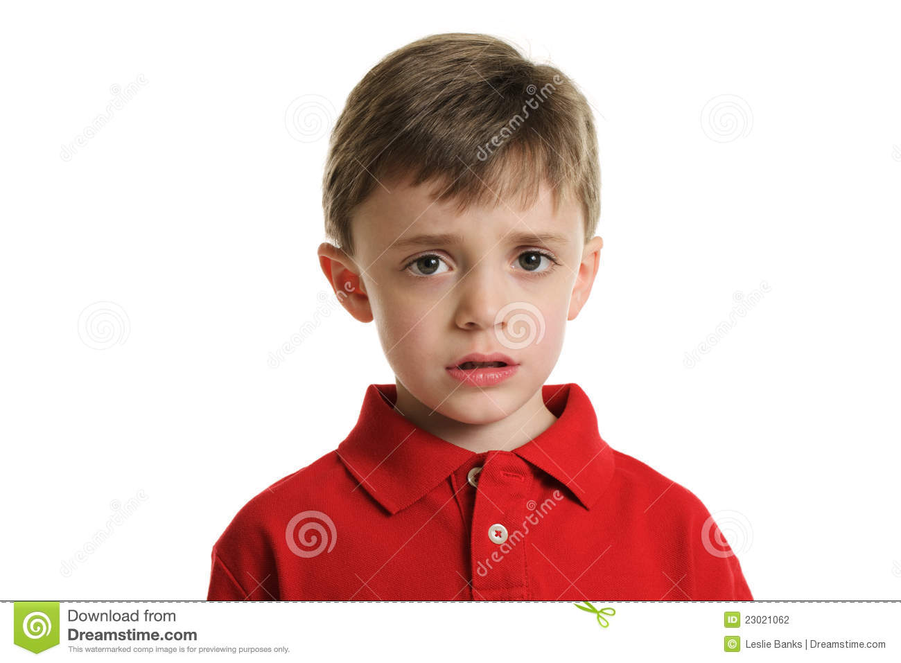 Worried Little Boy Stock Photography Image 23021062