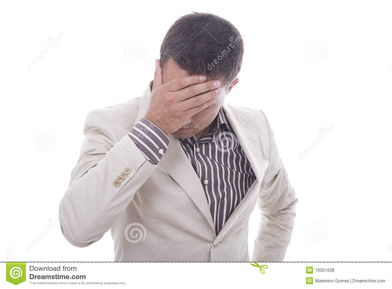 Download An worried man stock photo. Image of hand, looking, copy - 10051638
