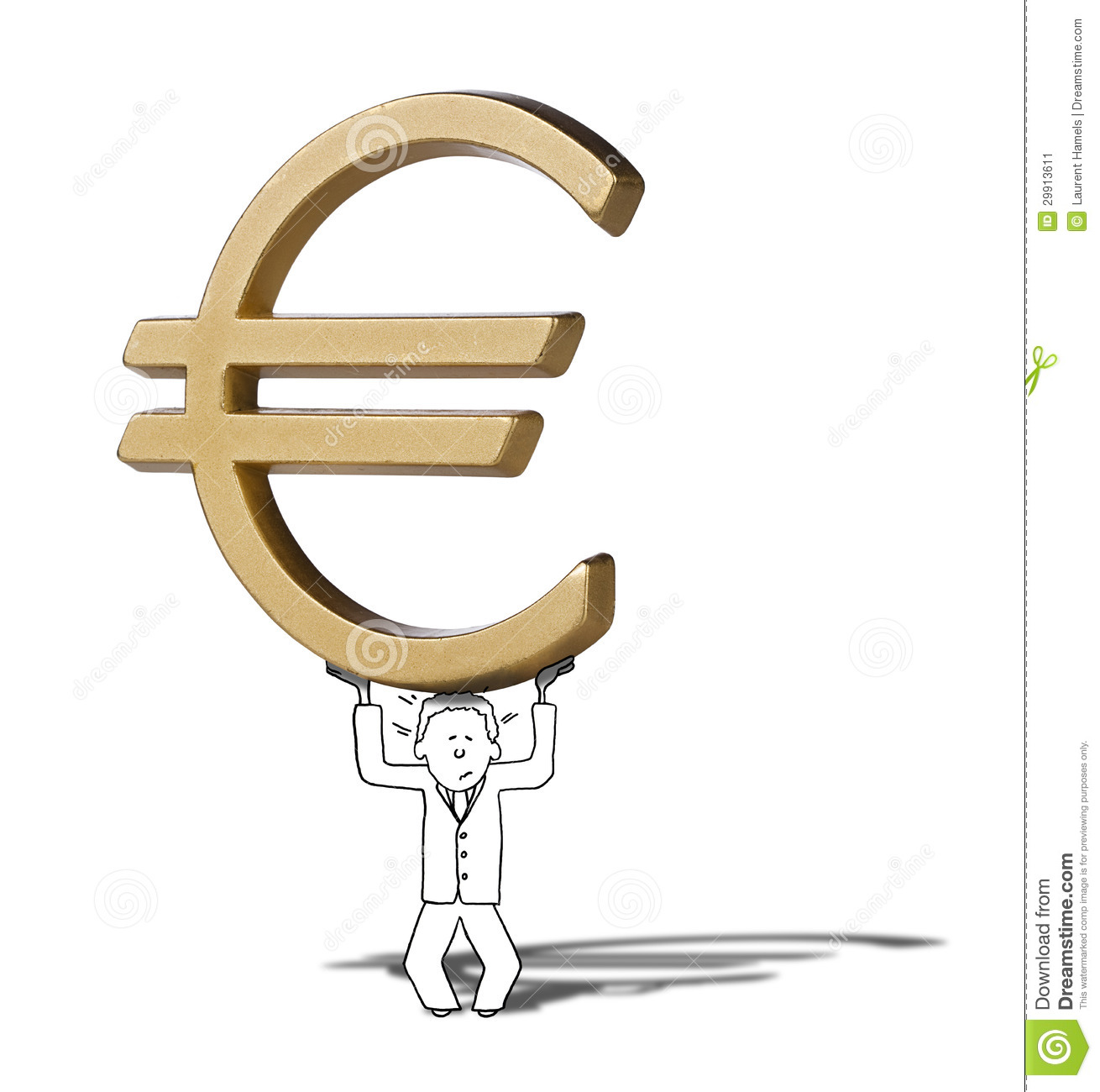 Illustration of difficult increase of euro symbol stock image royalty free stock photo biocorpaavc Images