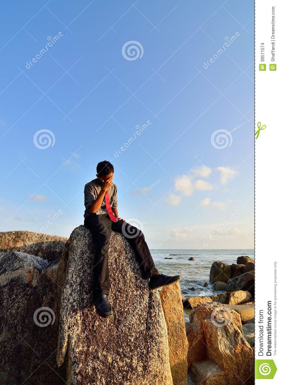 Download Worried young businessman stock photo. Image of formal - 39511574