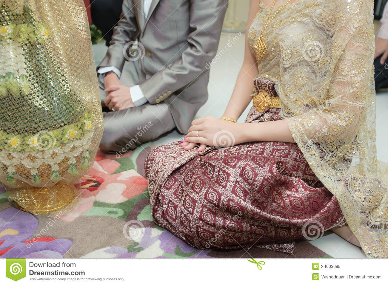 Engagement Jewelry Thai Wedding Stock Photos Images Pictures