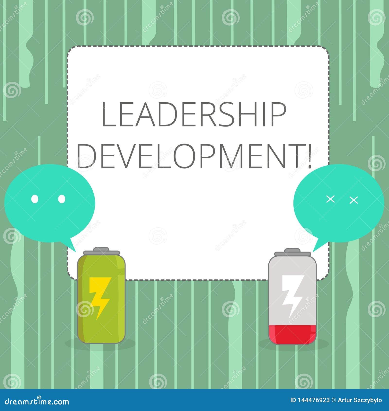 Wort, das Text Führungs-Entwicklung schreibt Geschäftskonzept für Programm, das das Darstellen macht, stehen besseren Führern