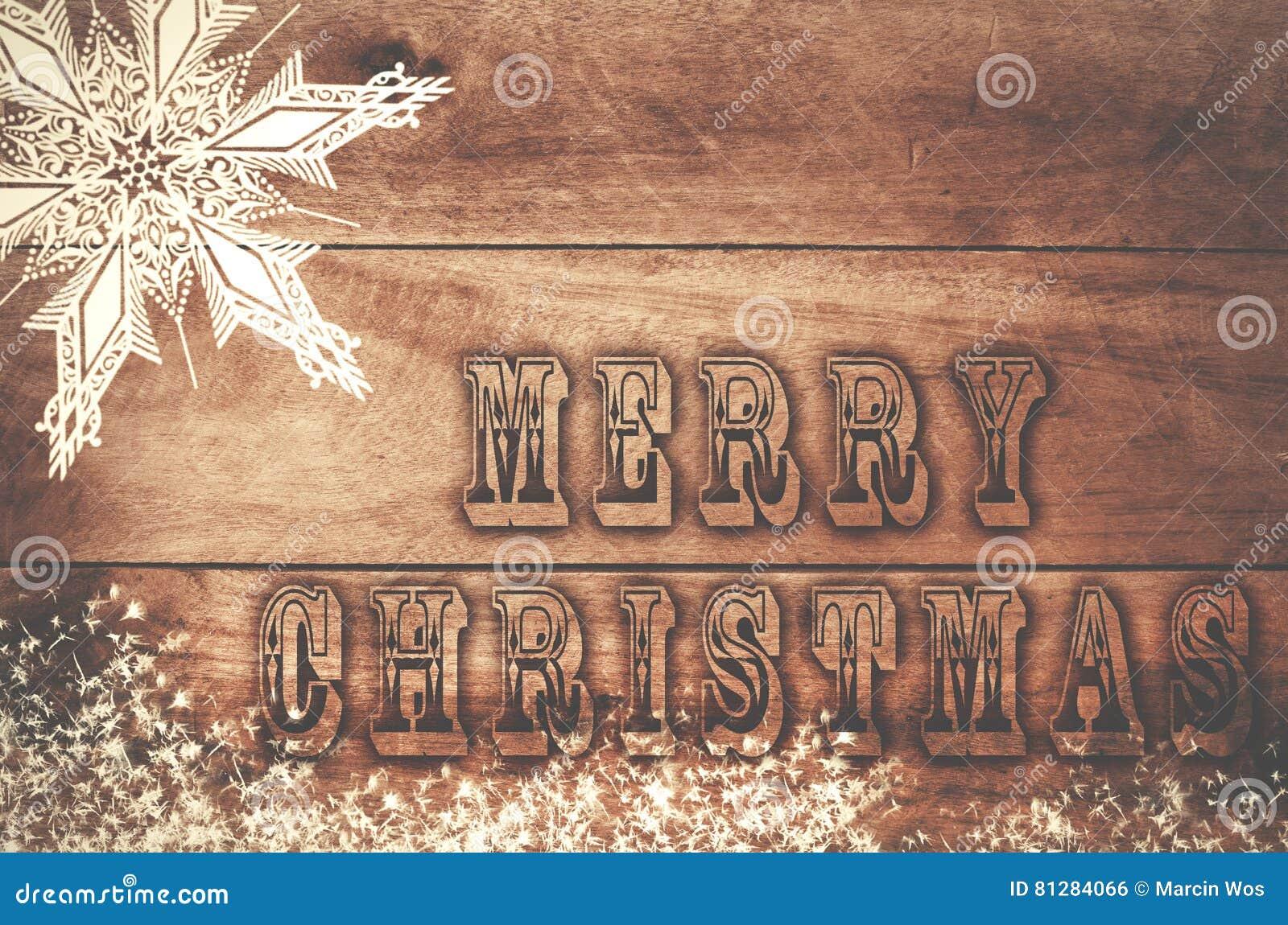 Wort-frohe Weihnachten Geschrieben, Gebrannte Buchstaben Auf ...