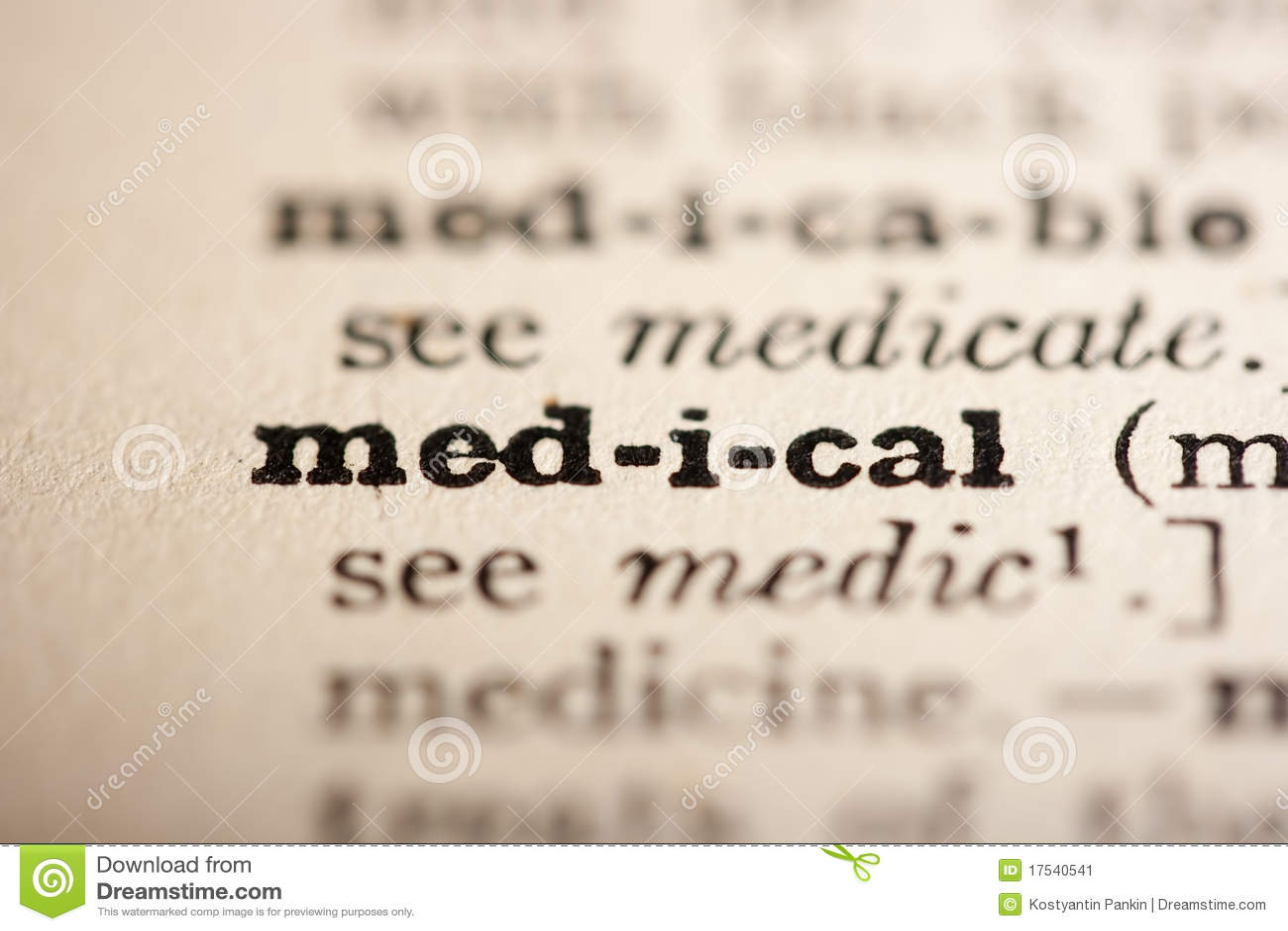 Wort medizinisch