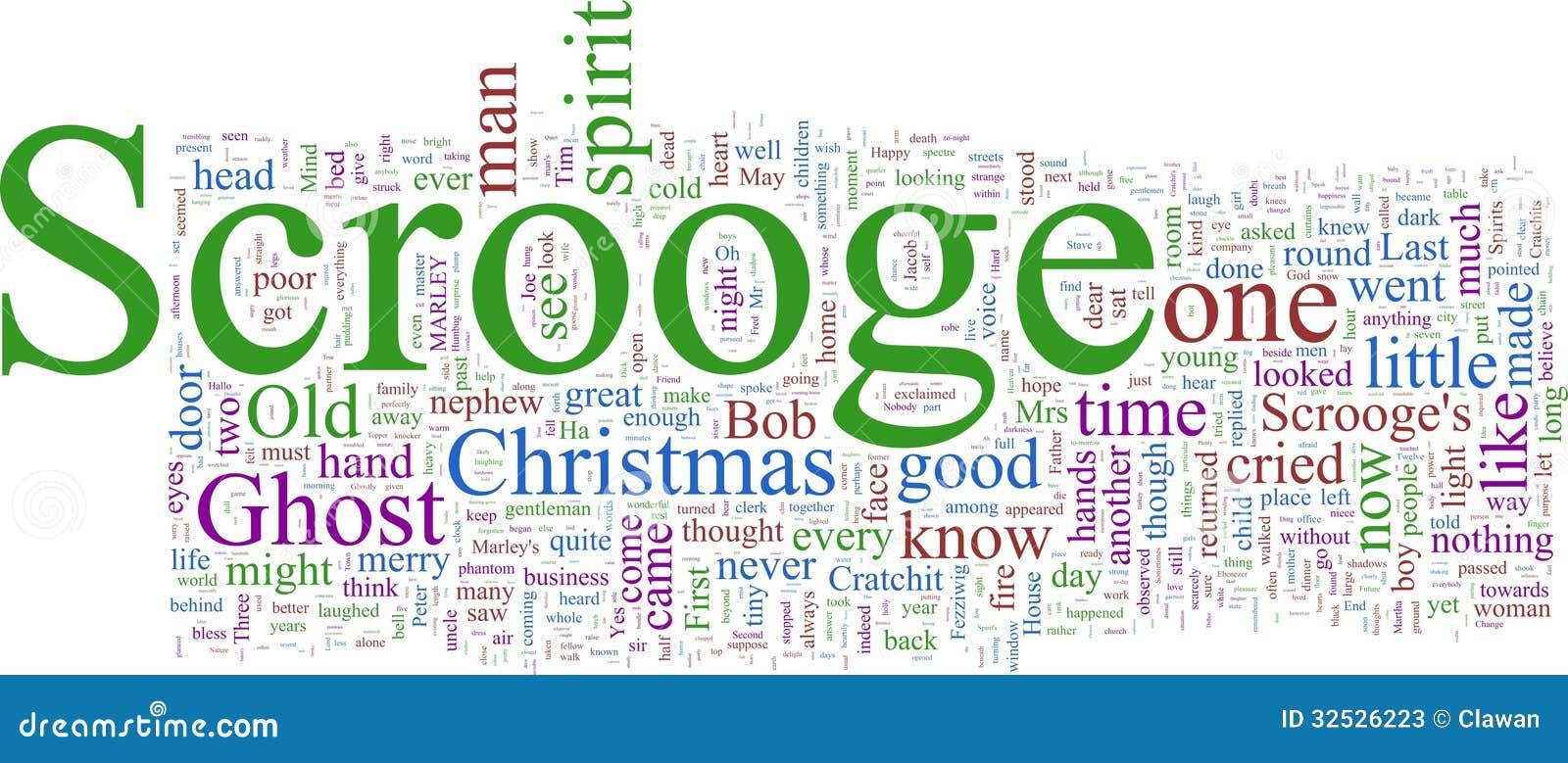Wort-Wolke: Dickens Weihnachten Carol Stock Abbildung - Illustration ...
