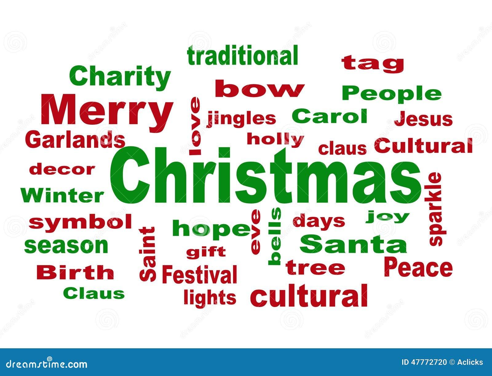 Wort-Wolke - Weihnachten Der Frohen Weihnachten Stockfoto - Bild von ...