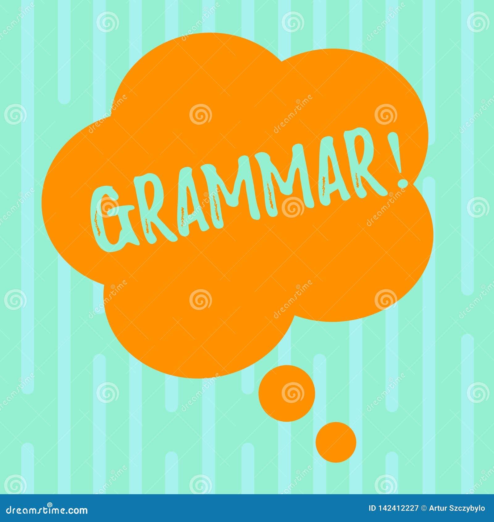 Wortschreibens-Text Grammatik Geschäftskonzept für System und Struktur von Sprachschreibregeln die Farbe löschen mit Blumen