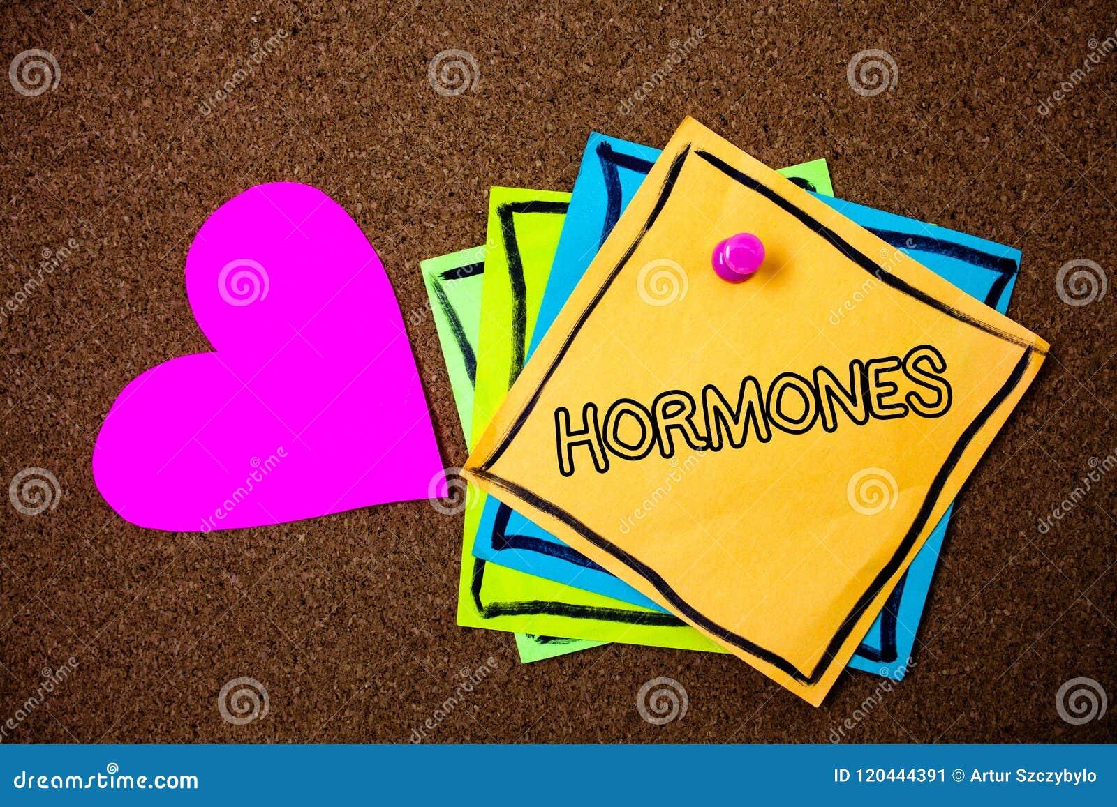 Wortschreibens-Text Hormone Geschäftskonzept für regelnde Substanz produzierte in einem Organismus, um Zellenideen-Mitteilungs-PA